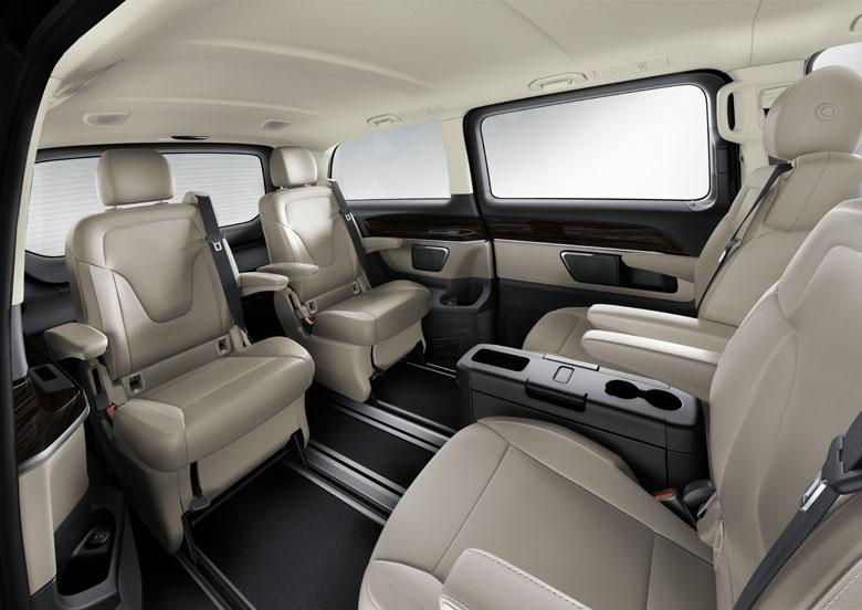 Essai au volant de la mercedes classe v 220 ex cutive for Mercedes classe v interieur