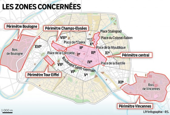 27 septembre 2015 journ e sans voiture paris la carte des quartiers interdits infos 75. Black Bedroom Furniture Sets. Home Design Ideas