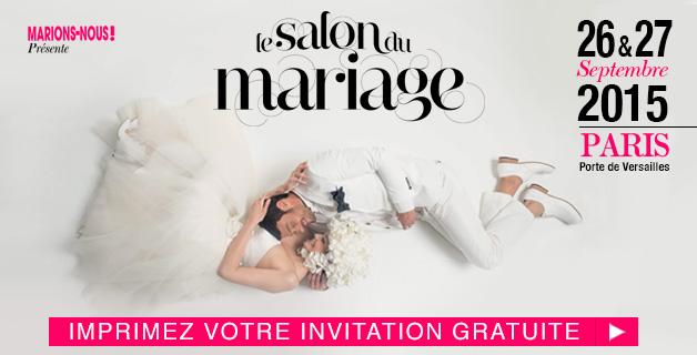 Salon du mariage 26 et 27 septembre 2015 infos 75 for Porte de versailles salon mariage