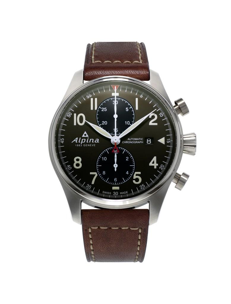 Alpina_Startimer Pilot Chronograph Automatic_ cadran vert kaki - AL-725GR4S6_soldat