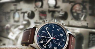 Alpina_Startimer Pilot Chronograph Automatic_AL-725N4S6  _ bleu marine - nature morte