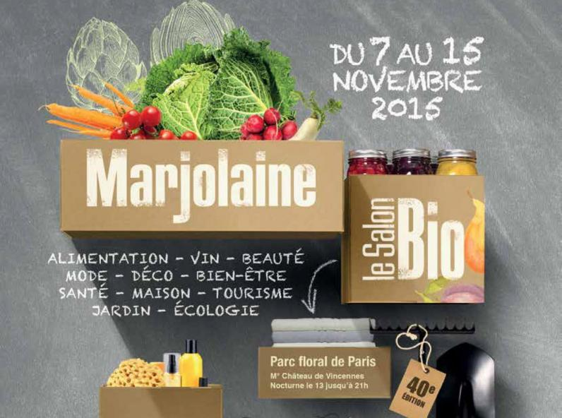 Le grand salon bio parisien marjolaine infos 75 for Salon bio paris 2016