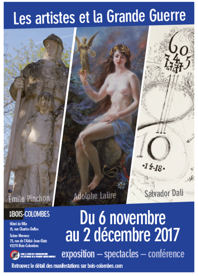 Les-artistes-et-la-Grande-Guerre-Du-6-novembre-au-2-decembre-2017_pressrelease